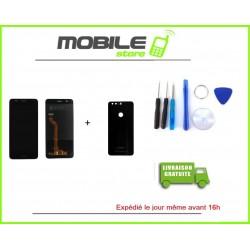 Vitre Tactile + LCD + Vitre arriere Huawei Honor 8 couleur noir