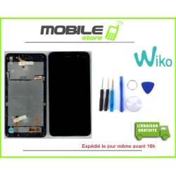 VITRE TACTILE + LCD + CHASSIS ORIGINAL WIKO LENNY 4 COULEUR NOIR