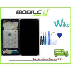 VITRE TACTILE + LCD + CHASSIS ORIGINAL WIKO LENNY 4 PLUS COULEUR NOIR