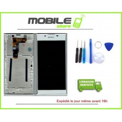 VITRE TACTILE + LCD + CHASSIS POUR SONY L1 G3311 G3312 G3313 COULEUR BLANC
