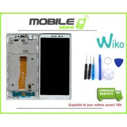 Vitre Tactile + ecran LCD + Chassis Original Pour Wiko Y80 Blanc + Outils