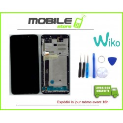 Vitre Tactile + Ecran LCD + Chassis original wiko view + outils