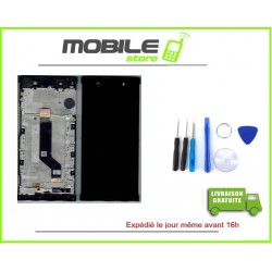 VITRE TACTILE + ECRAN LCD + CHASSIS POUR SONY XA1 ULTRA NOIR