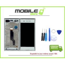VITRE TACTILE + ECRAN LCD + CHASSIS SONY XA1 BLANC