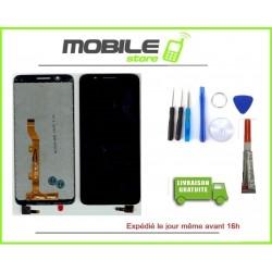 Vitre Tactile + Ecran LCD Pour ALCATEL 1X OT5059 NOIR + outils + colle